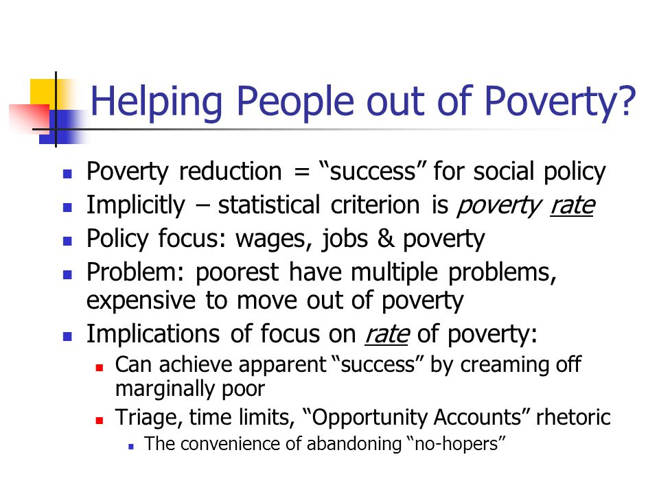 Assessing Success in Anti-Poverty Policy Lars Osberg Dalhousie University October 1, 2004