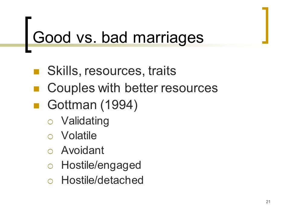 21 Good vs.