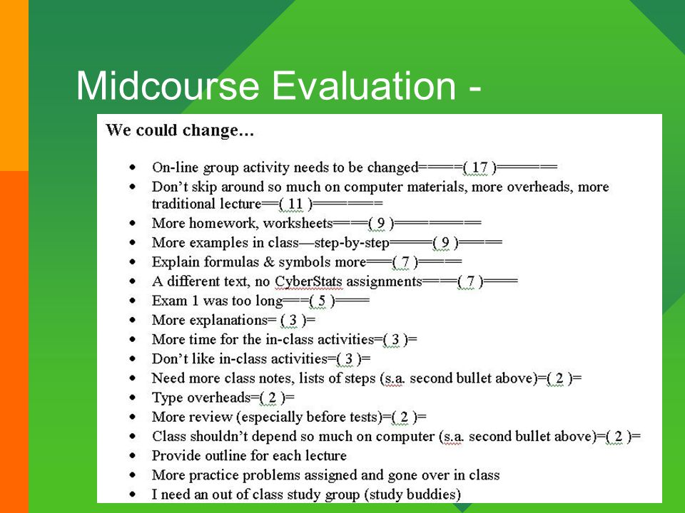 13 Midcourse Evaluation -