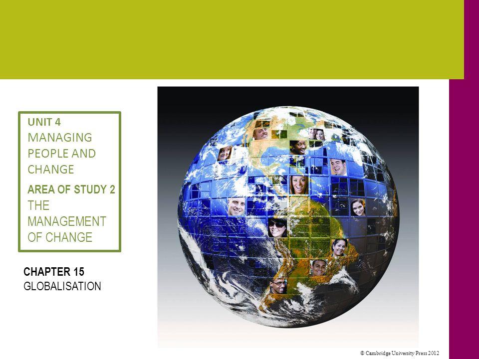 © Cambridge University Press 2012 What is globalisation.