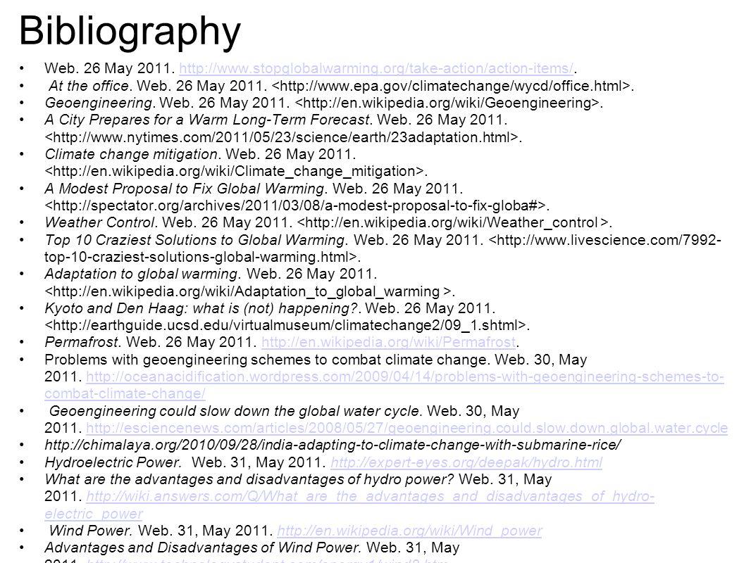 Bibliography Web. 26 May 2011.