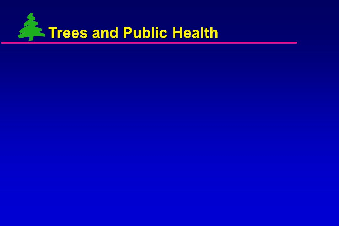 Trees and other natural elements as essential to a healthy human habitat: Why ask?