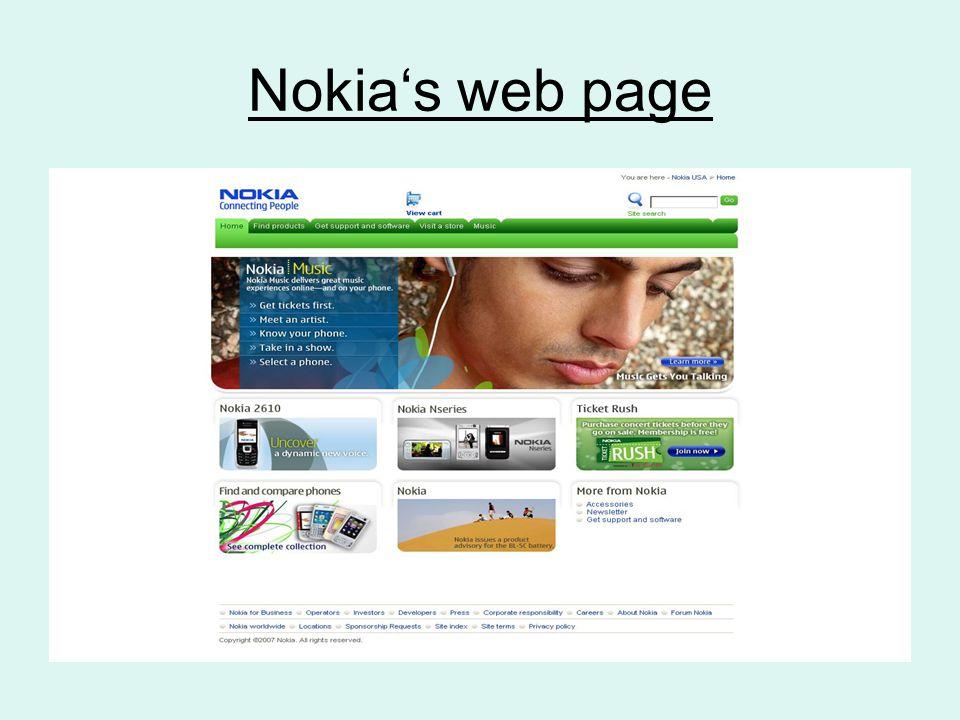 Nokia's web page