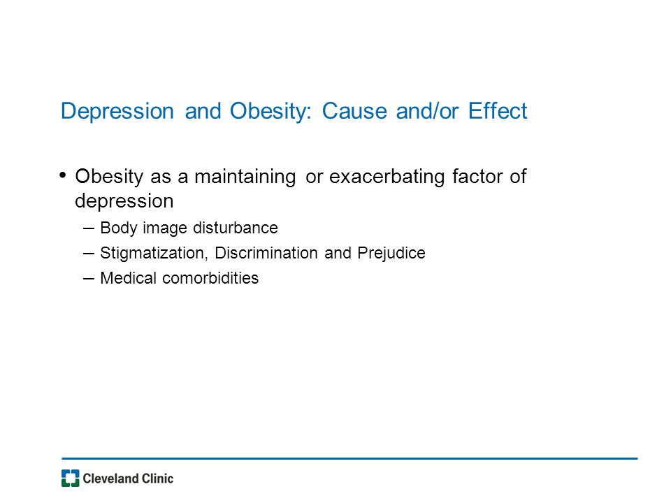 Relationship of depression to 6 month RYGB outcomes (Kalarchian et al., 2008) Reduction in BMI