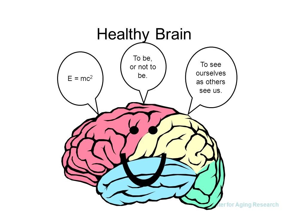 IU Center for Aging Research Healthy Brain To see ourselves as others see us. To be, or not to be. E = mc 2