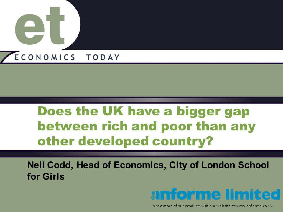 A second way to compare the impact of the rich-poor gap is to look at life expectancy.