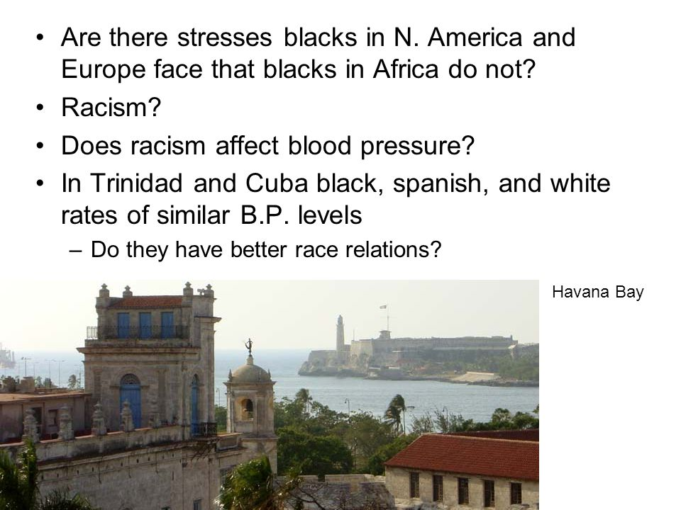 Are there stresses blacks in N. America and Europe face that blacks in Africa do not.