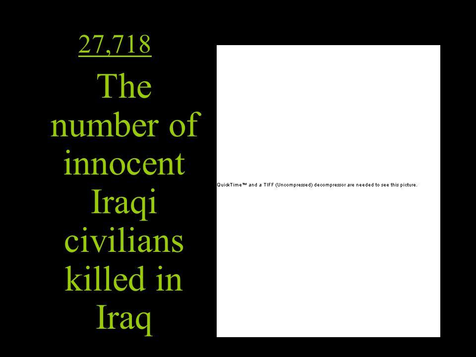 The number of innocent Iraqi civilians killed in Iraq