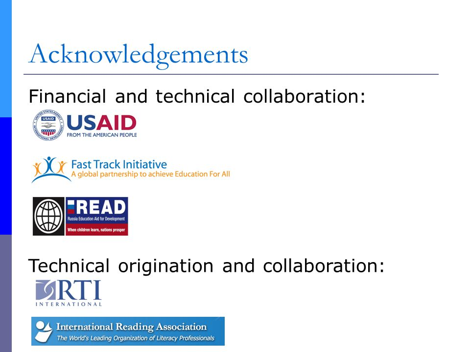 Acknowledgements May the collaboration continue.May more partners join.