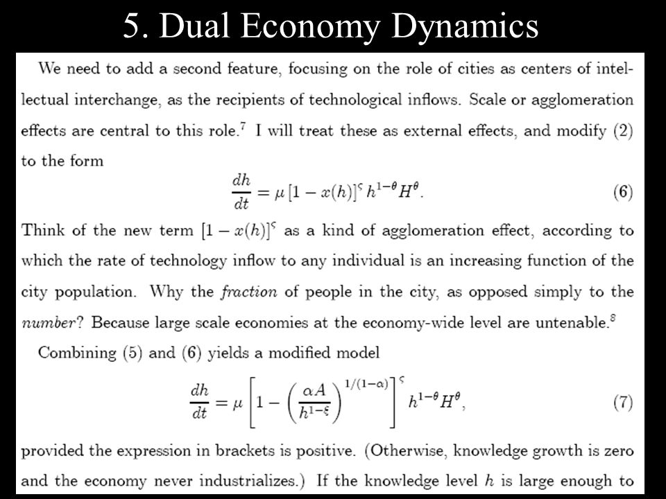 5. Dual Economy Dynamics
