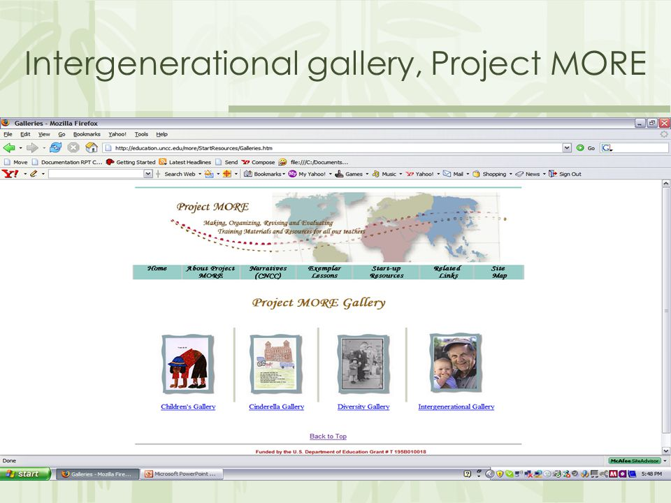 Intergenerational gallery, Project MORE