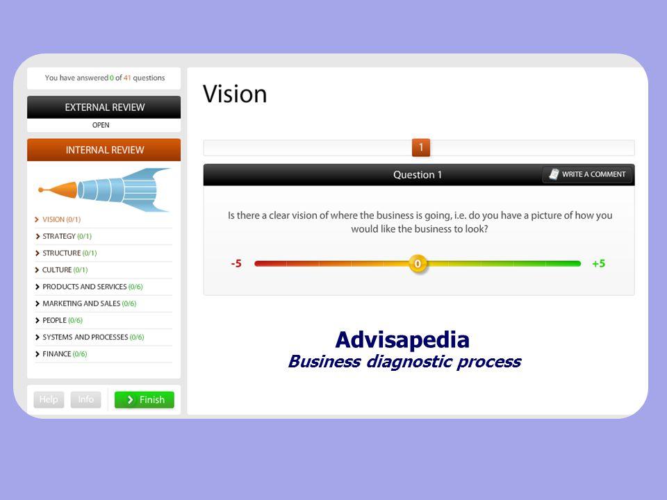 Advisapedia Business diagnostic process