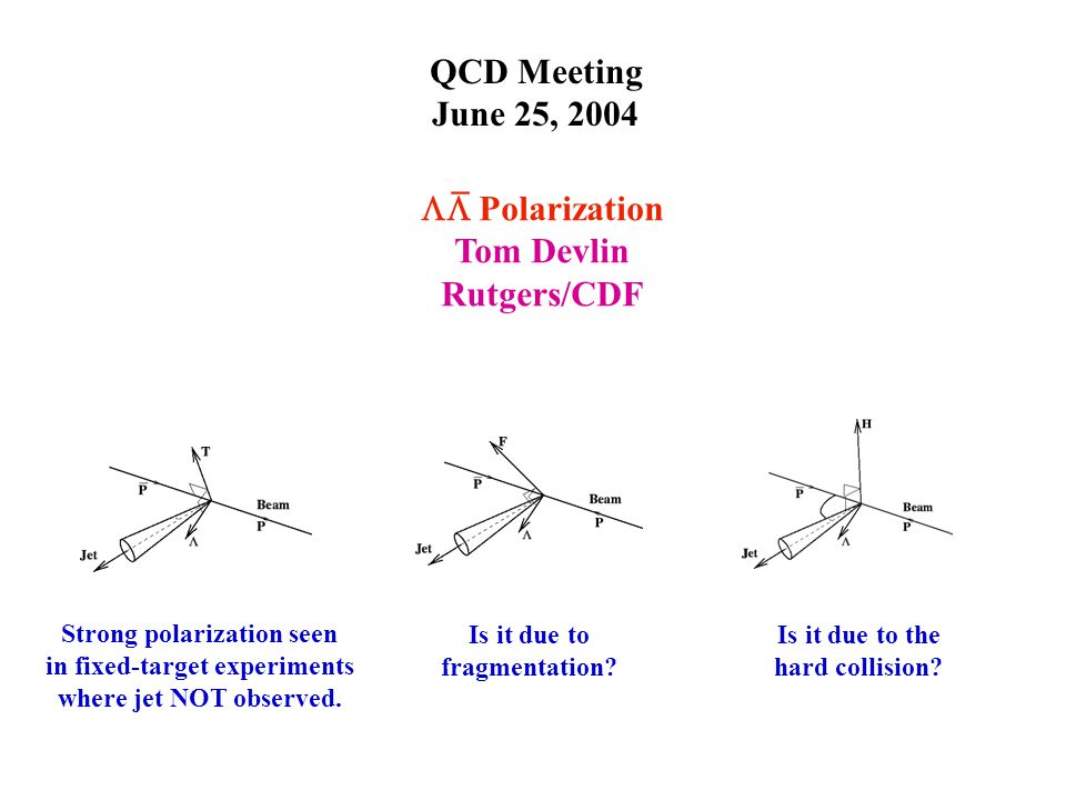 QCD Meeting June 25, 2004 Is it due to the hard collision.