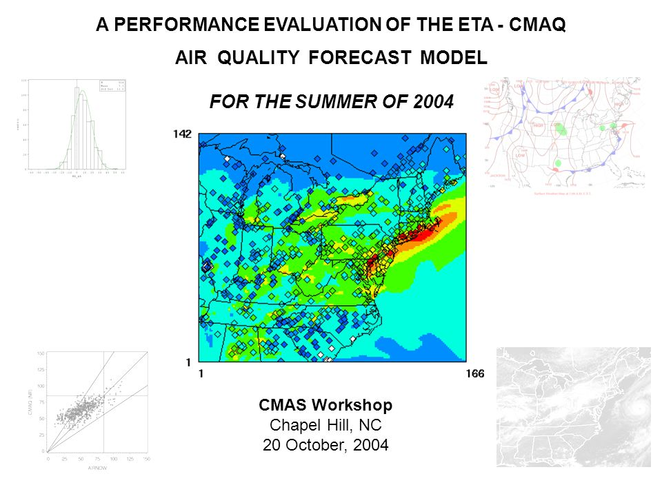 A PERFORMANCE EVALUATION OF THE ETA - CMAQ AIR QUALITY FORECAST MODEL FOR THE SUMMER OF 2004 CMAS Workshop Chapel Hill, NC 20 October, 2004