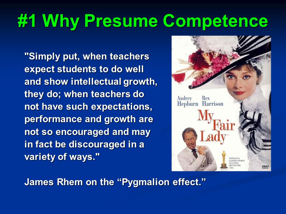 #1 Why Presume Competence