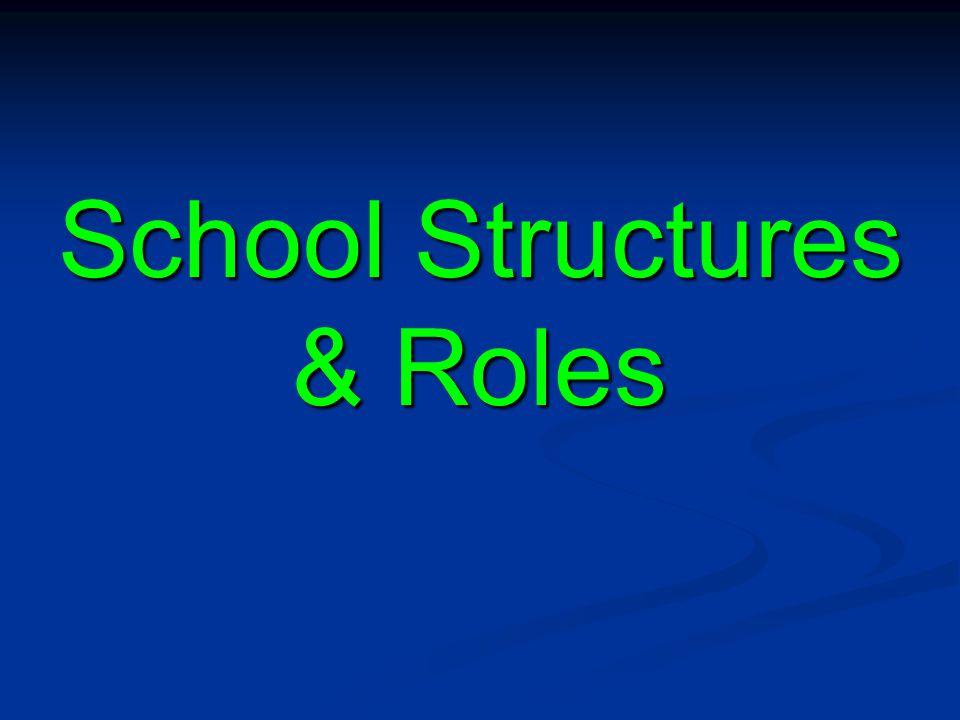 School Structures & Roles