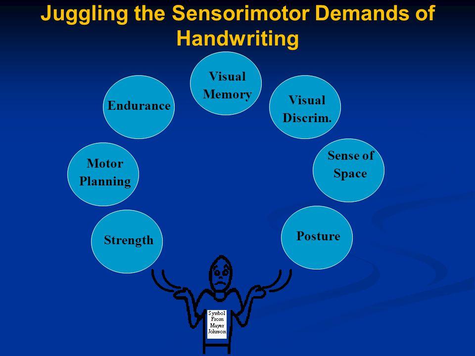 Motor Planning Posture Sense of Space Visual Memory Strength Endurance Visual Discrim.