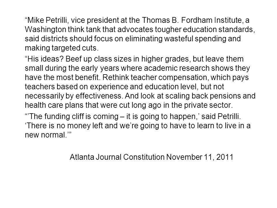 Mike Petrilli, vice president at the Thomas B.