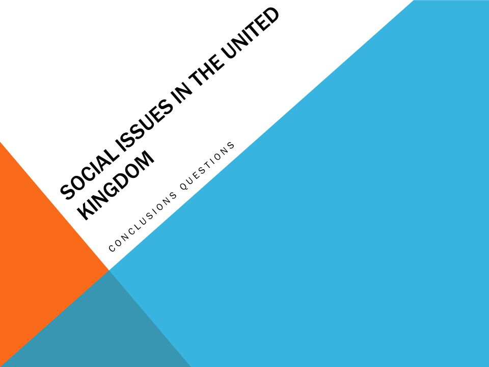 SOCIAL ISSUES IN THE UNITED KINGDOM CONCLUSIONS QUESTIONS
