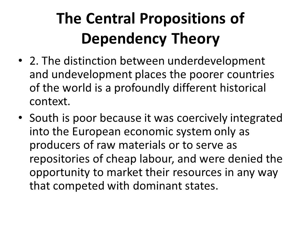 The Central Propositions of Dependency Theory 2.