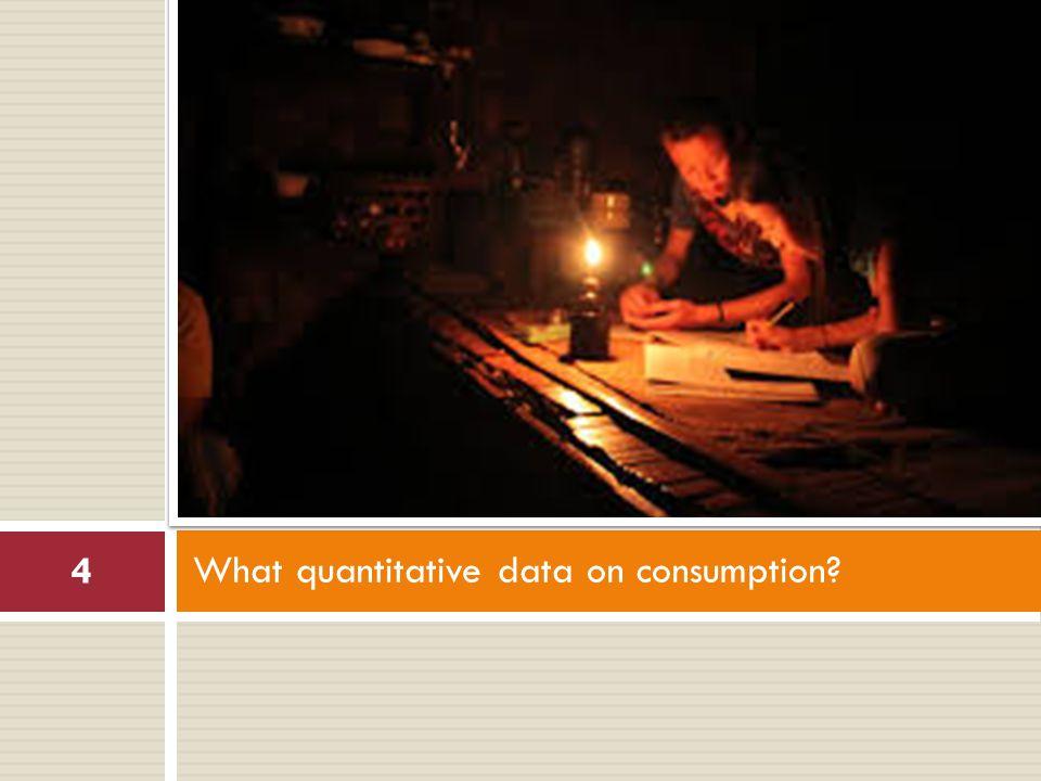 What quantitative data on consumption 4