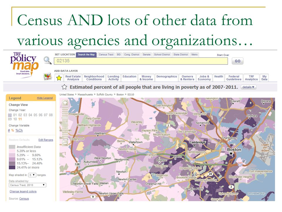 Census AND lots of other data from various agencies and organizations…