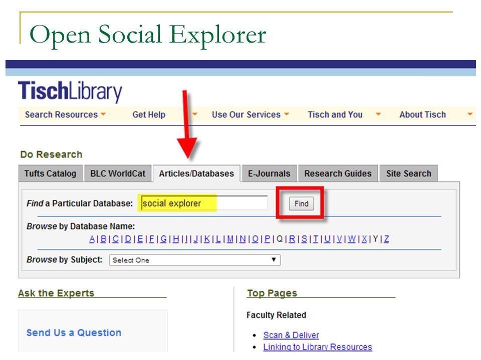 Open Social Explorer