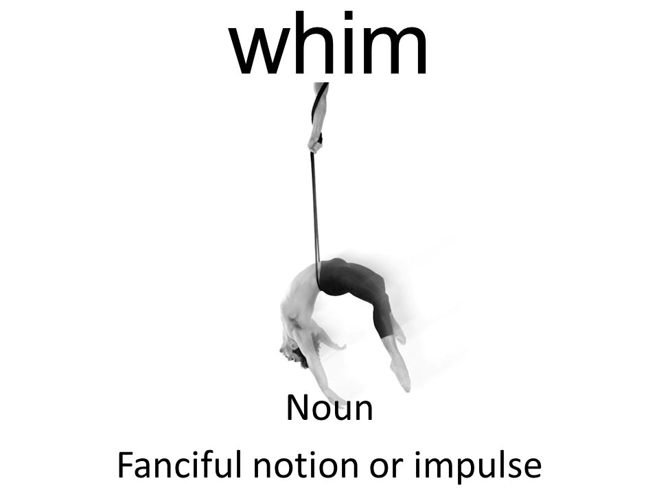 whim Noun Fanciful notion or impulse