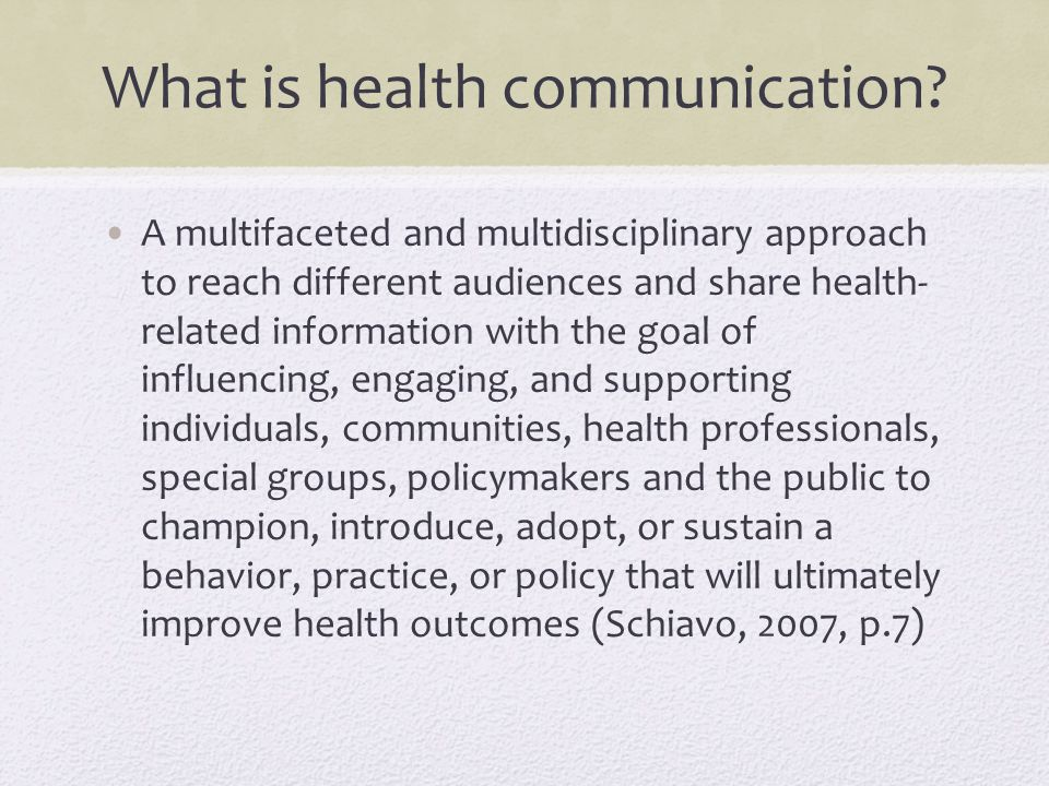 What is health communication.