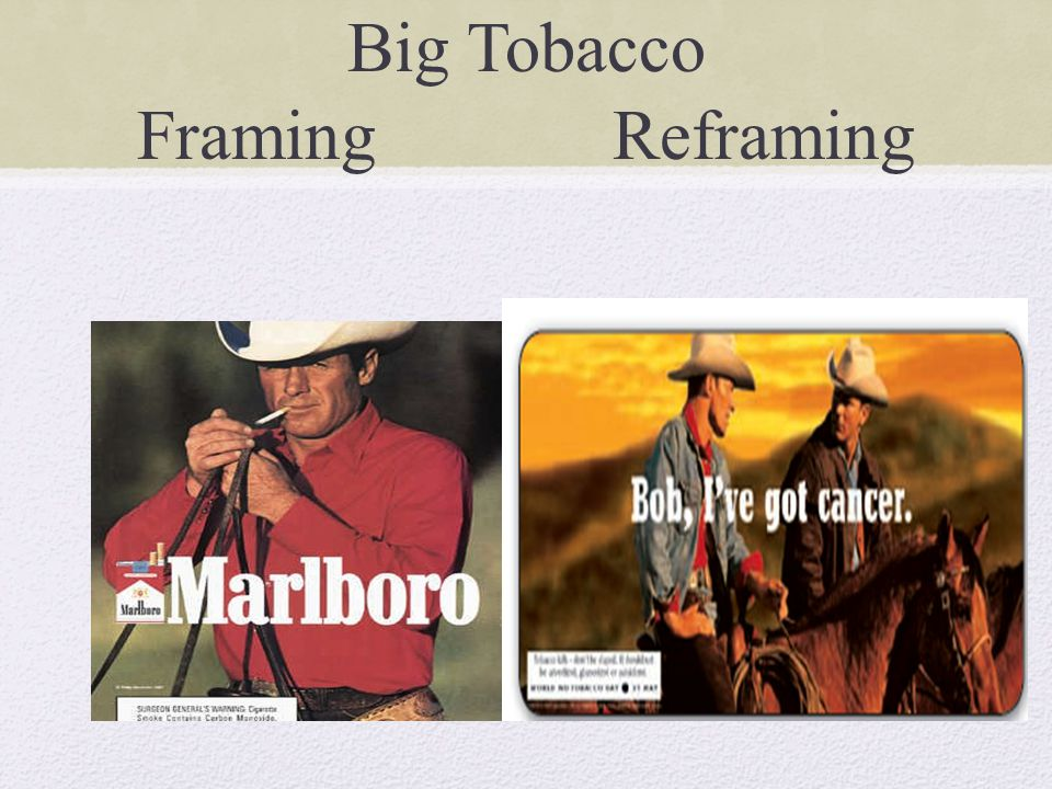 Big Tobacco Framing Reframing