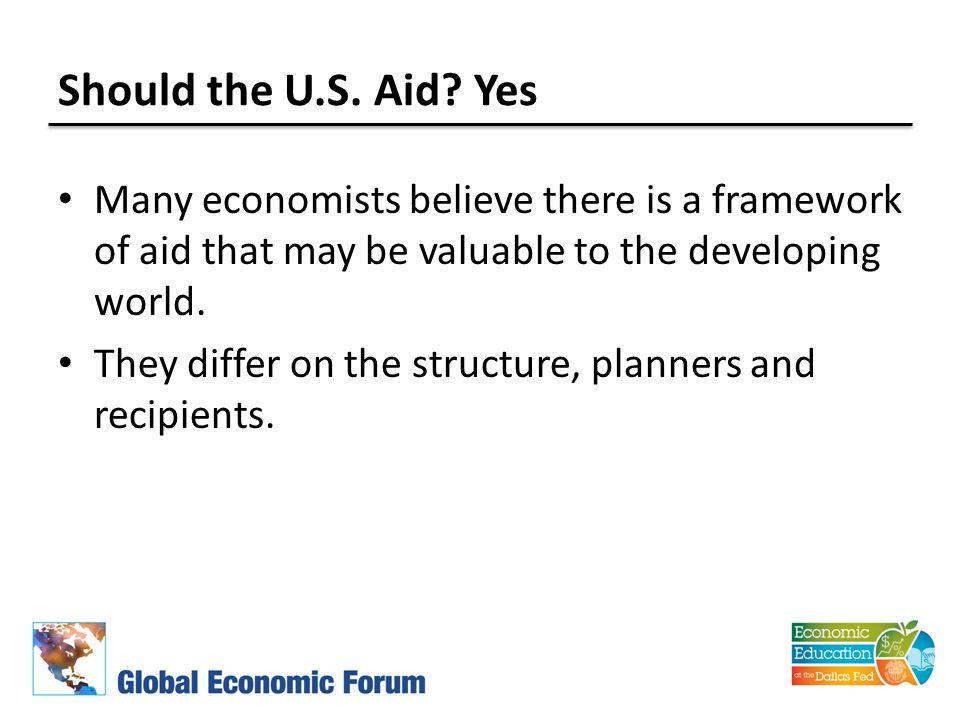 Should the U.S. Aid.