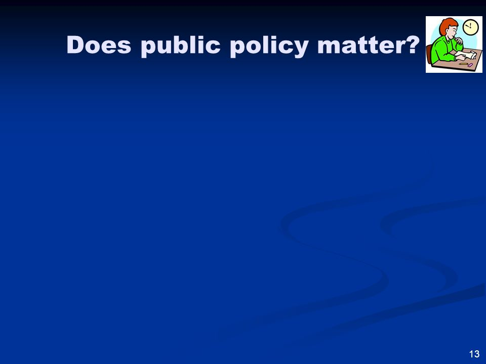 13 Does public policy matter?