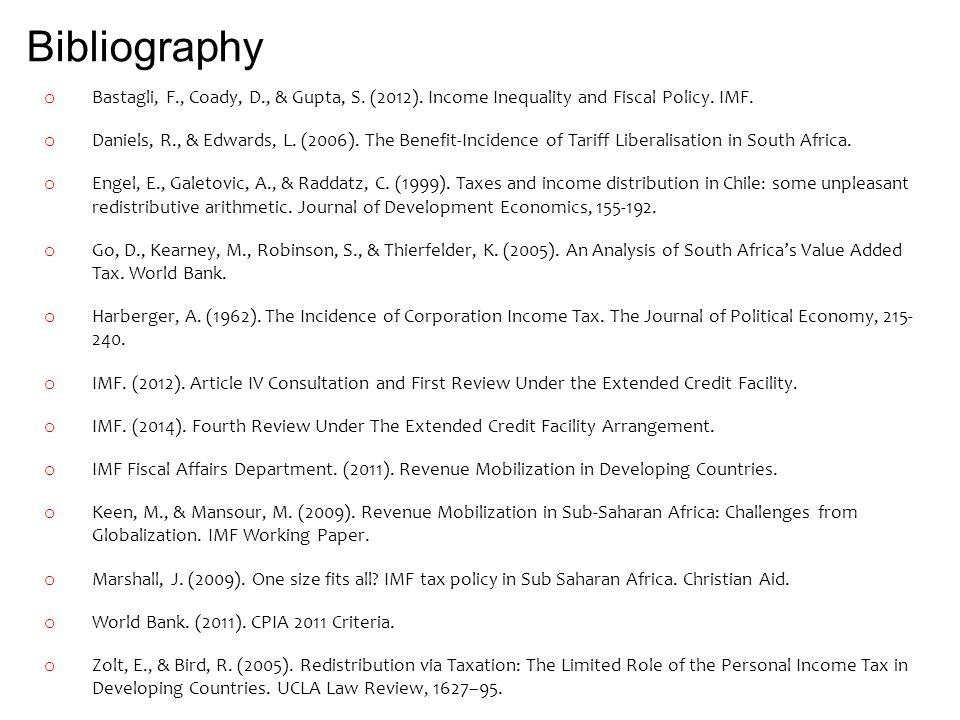 Bibliography o Bastagli, F., Coady, D., & Gupta, S.
