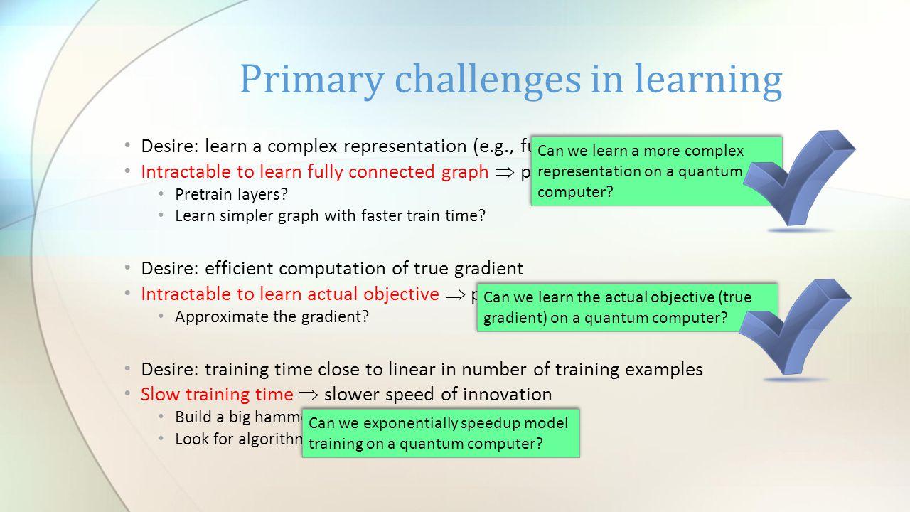 Desire: learn a complex representation (e.g., full Boltzmann machine) Intractable to learn fully connected graph  poorer representation Pretrain laye