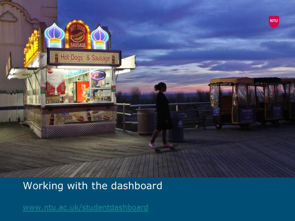 Working with the dashboard www.ntu.ac.uk/studentdashboard