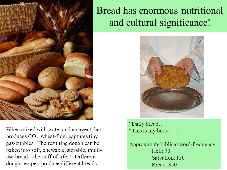 Bread has enormous nutritional and cultural significance.