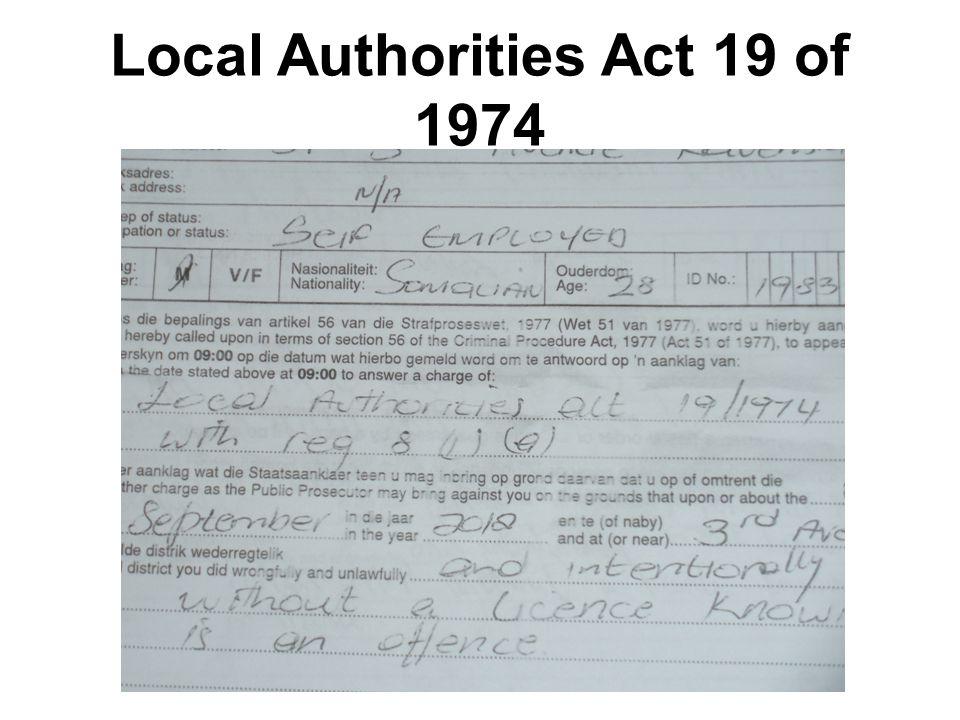 Local Authorities Act 19 of 1974