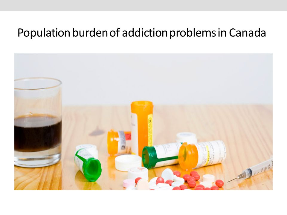 Population burden of addiction problems in Canada