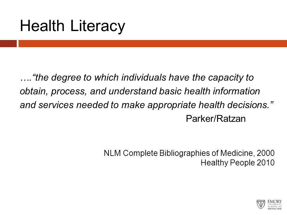 Health Literacy Framework