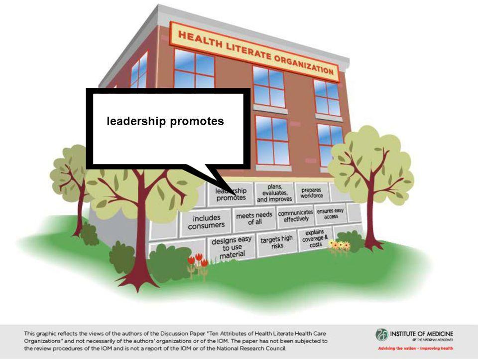 leadership promotes