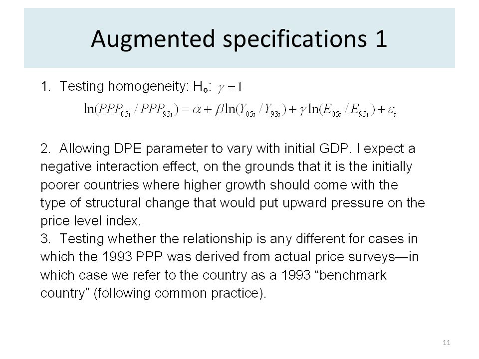 Augmented specifications 1 11