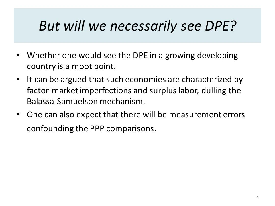But will we necessarily see DPE.