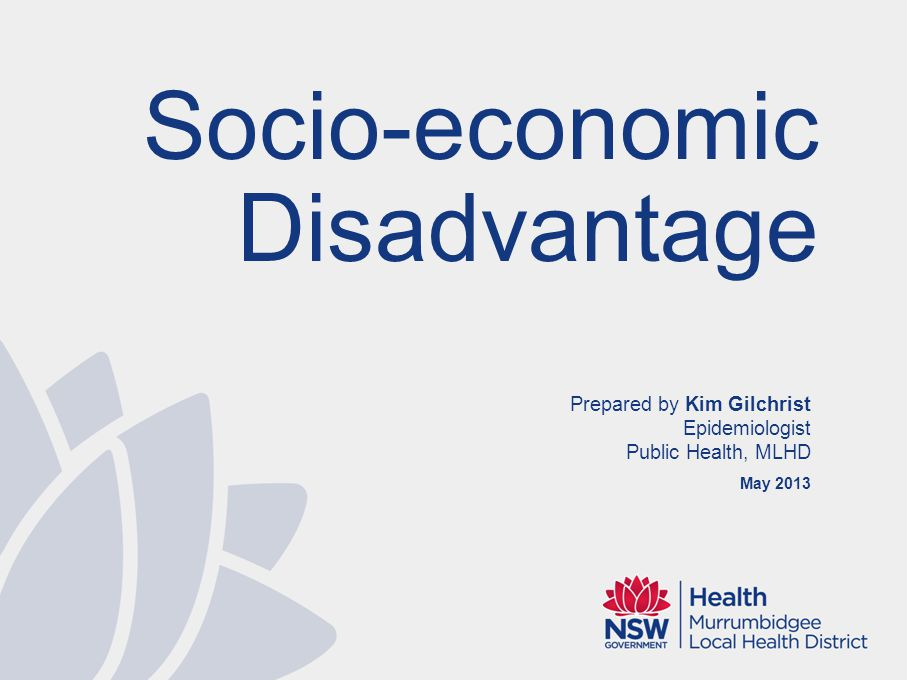 Taking A Social Determinants Approach Research has shown that the housing, transport, stress, type of employment or unemployment, social support and income have as much impact on health and wellbeing as our genes and behaviours.