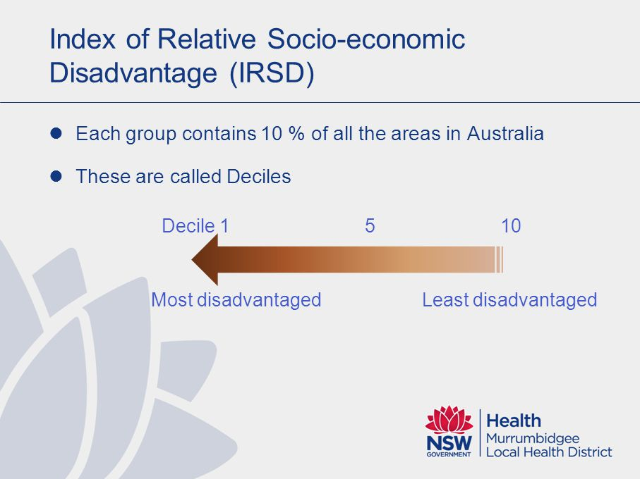 What is relative disadvantage.