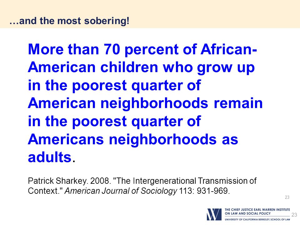 23 …and the most sobering.