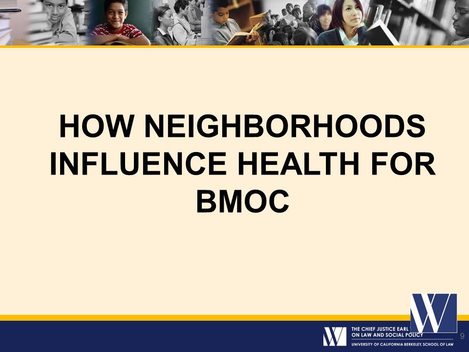 9 HOW NEIGHBORHOODS INFLUENCE HEALTH FOR BMOC 9