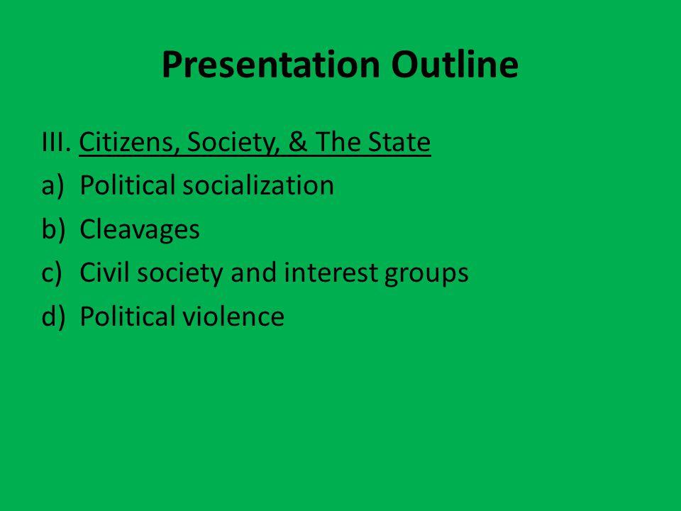 Presentation Outline III.