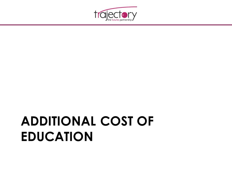 ADDITIONAL COST OF EDUCATION