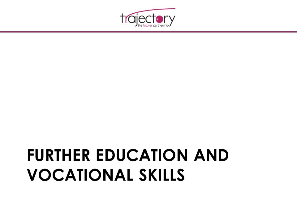 FURTHER EDUCATION AND VOCATIONAL SKILLS