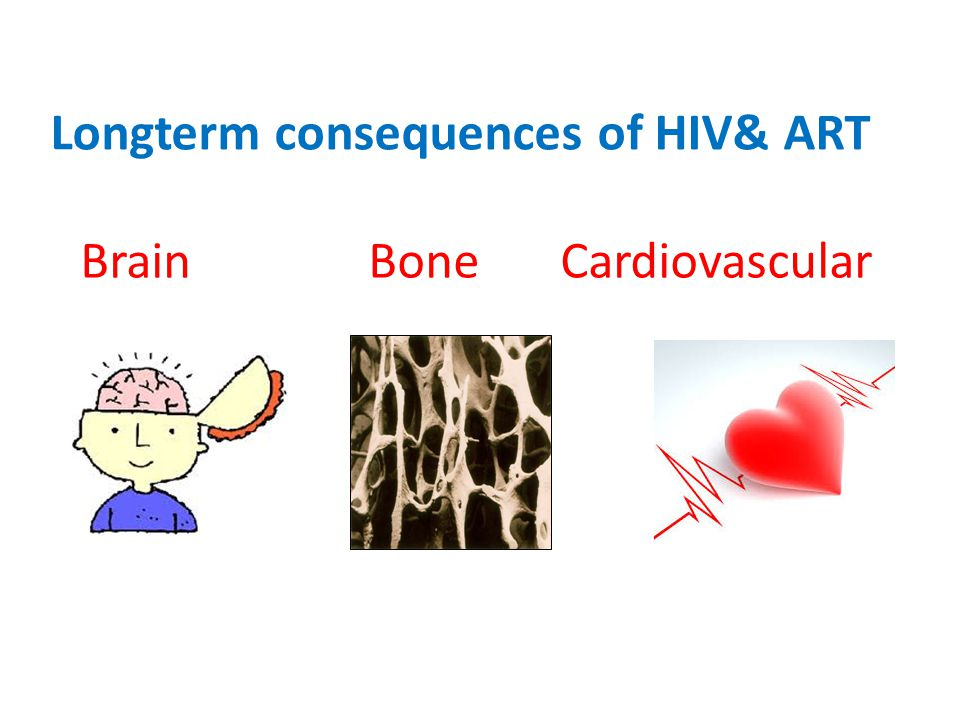 Longterm consequences of HIV& ART Brain BoneCardiovascular
